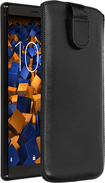 Mumbi Echt Ledertasche Kompatibel Mit Sony Xperia Xz2 Hülle Leder Tasche Case Wallet Schwarz Elektronik