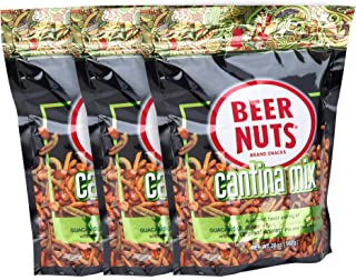 product image for BEER NUTS Cantina Mix - Grab Bag - 20 oz. Resealable Bag (Pack of 3), Original Peanuts, Chili Lemon Roasted Corn, Black Bean Sticks, Guacamole Bites