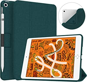 Soke iPad Mini 5 Case 2019 with Pencil Holder, Premium Trifold Case with Strong Protection, Ultra Slim Soft TPU Back Cover with Auto Sleep/Wake Function for Apple iPad Mini 5th Gen,Teal