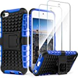 iPod Touch 7 Case with 2 Screen Protectors,iPod 6 Case,iPod 5 Case, IDweel Heavy Duty Dual Layer Shockproof Hybrid…