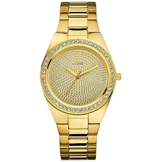 Para Polvo Mujer De U11055l1 Dorado Pixie Pulsera Guess Reloj IeED9bWH2Y