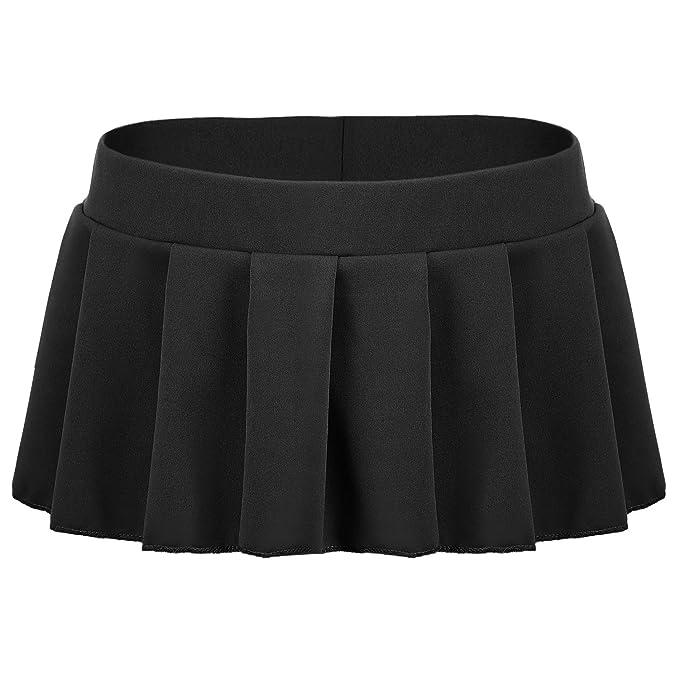 6f3ad2f175 Amazon.com: Avidlove Women Sexy Role Play Pleated Mini Skirt Ruffle ...