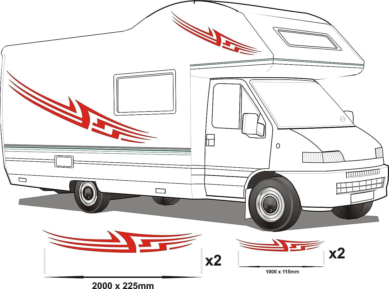 Smarts-Art Van caravana pegatinas de gráficos de vinilo Adhesivos Set RV caravana caballo Set8