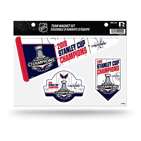 7aa9f61c8 Image Unavailable. Image not available for. Color  Rico Industries NHL  Washington Capitals 2018 Stanley Cup Champions Die Cut Team Magnet Set Sheet