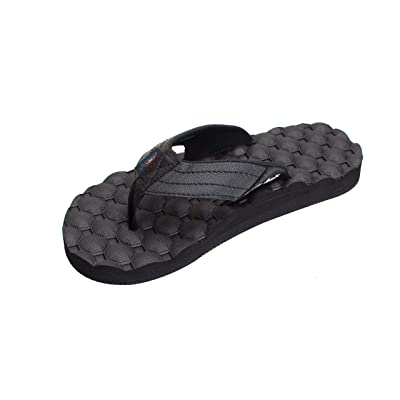 Rainbow Sandals Men's Rubber Single Layer Holoholo, Black, Men's 14 | Sandals
