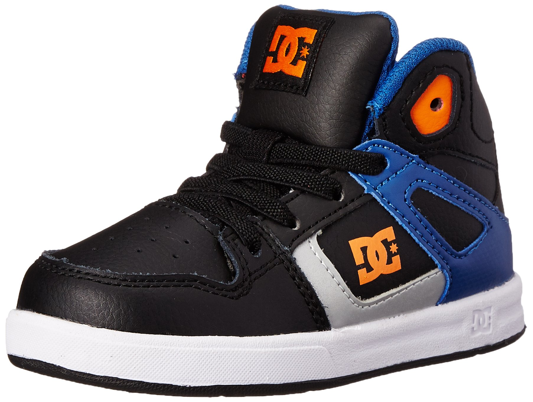 DC Shoes Baby-Boys Shoes Rebound Ul - High-Top Shoes - Boys - US 5 - Blue Blue/Black/White US 5 / UK 4 / EU 20.5