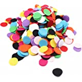 BIHRTC 1000Pcs 1 inch Mixed Color Round Felt Circle Felt Pads for DIY and Sewing Handcraft
