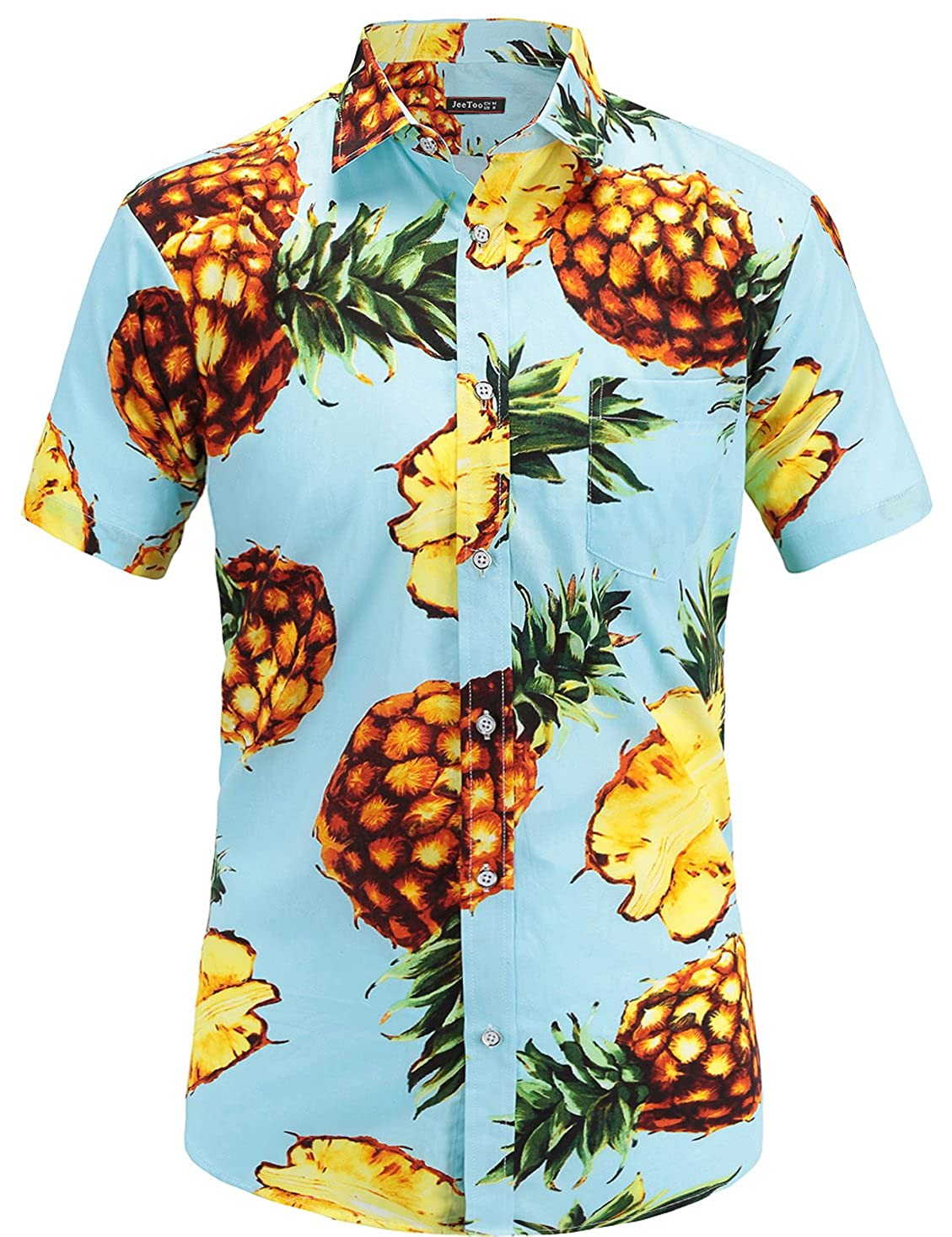 TALLA S. JEETOO Camisa Casual - Clásico - para Hombre