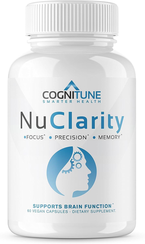 NuClarity – Premium Natural Nootropic Brain Supplement – 1 Focus, Energy, Memory Booster – Mental Health, Clarity Cognitive Function Support – Ginkgo Biloba, Phosphatidylserine, Rhodiola Rosea
