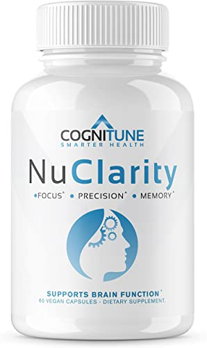 NuClarity – Premium Nootropic Brain Supplement – Focus, Energy, Memory Booster – Mental Clarity Cognitive Support – Ginkgo Biloba, Bacopa Monnieri, Alpha-GPC, Phosphatidylserine, Rhodiola Rosea