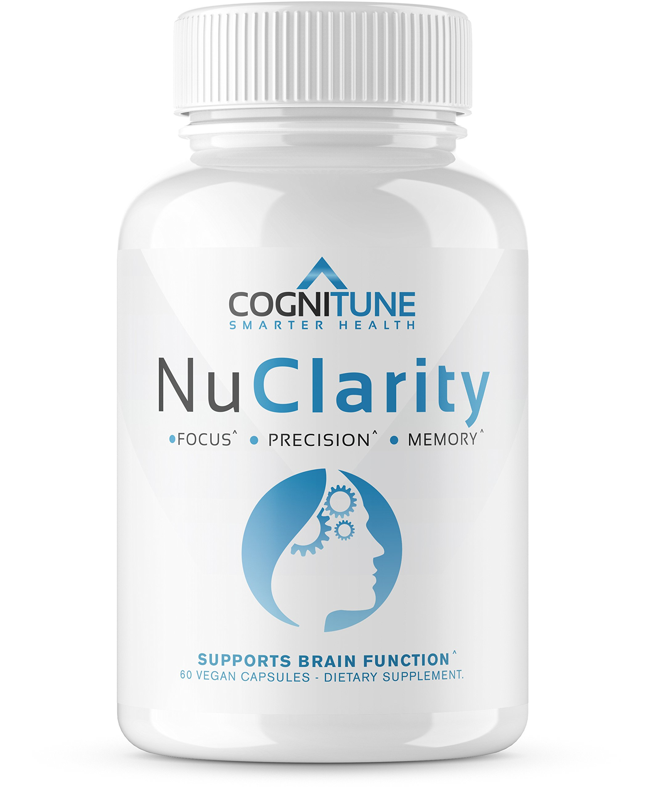 NuClarity - Premium Natural Nootropic Brain Supplement - #1 Focus, Energy, Memory Booster - Mental Health, Clarity & Cognitive Function Support - Ginkgo Biloba, Phosphatidylserine, Rhodiola Rosea