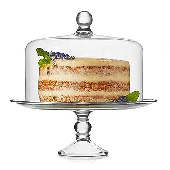 Libbey Selene Glass Cake Stand