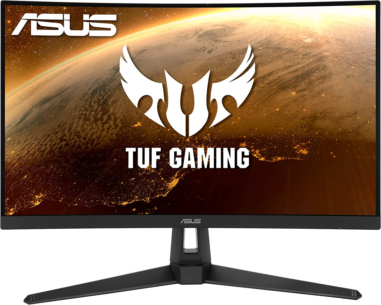 Amazon Com Asus Tuf Gaming Vg27vh1b 27 Curved Monitor 1080p Full Hd 165hz Supports 144hz Extreme Low Motion Blur Adaptive Sync Freesync Premium 1ms Eye Care Hdmi D Sub Black Computers Accessories