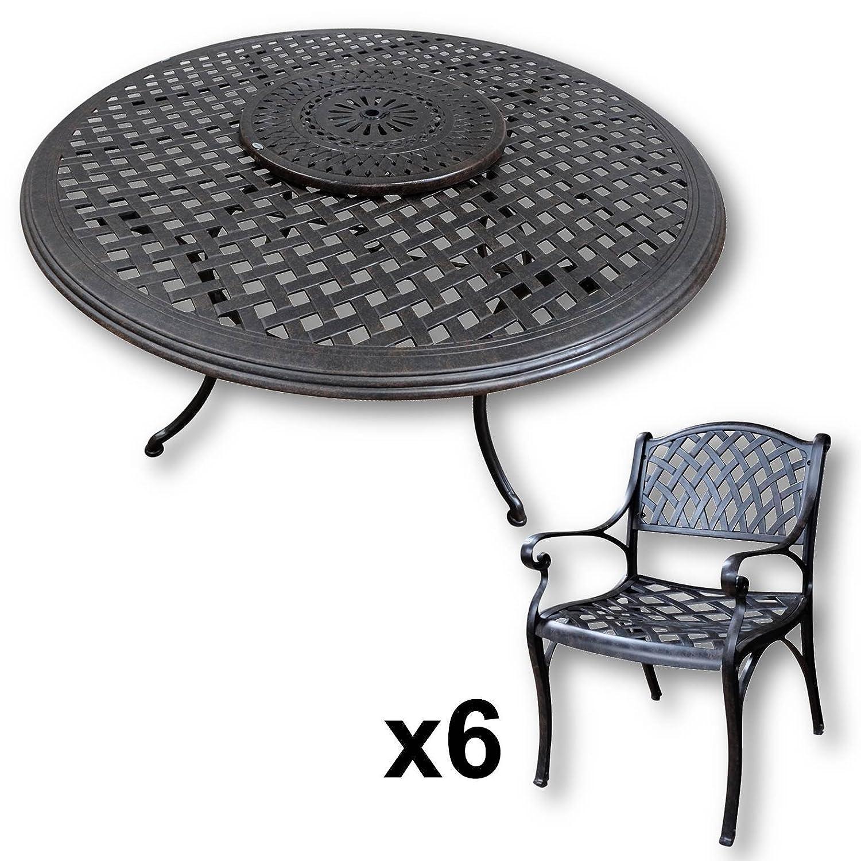 Lazy Susan Valerie 150 Cm Runder Gartentisch Mit 6 Stuhlen