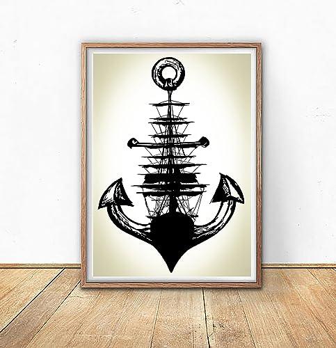 Amazon.com: Anchor Poster Print - Anchor Decor - Anchor Wall Art ...