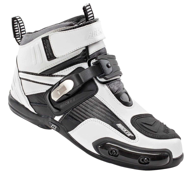 Joe Rocket Atomic Men's Motorcycle Riding Boots/Shoes (Black/Grey, Size 10) 1387-1010