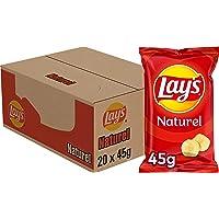 Lay's Chips Naturel, Doos 20 stuks x 45 g