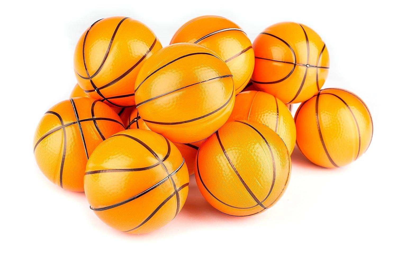 Basketball Sports Stress Ball Bulk Pack of 12 Relaxable 2 Stress Relief Basketball Squeeze Balls Neliblu