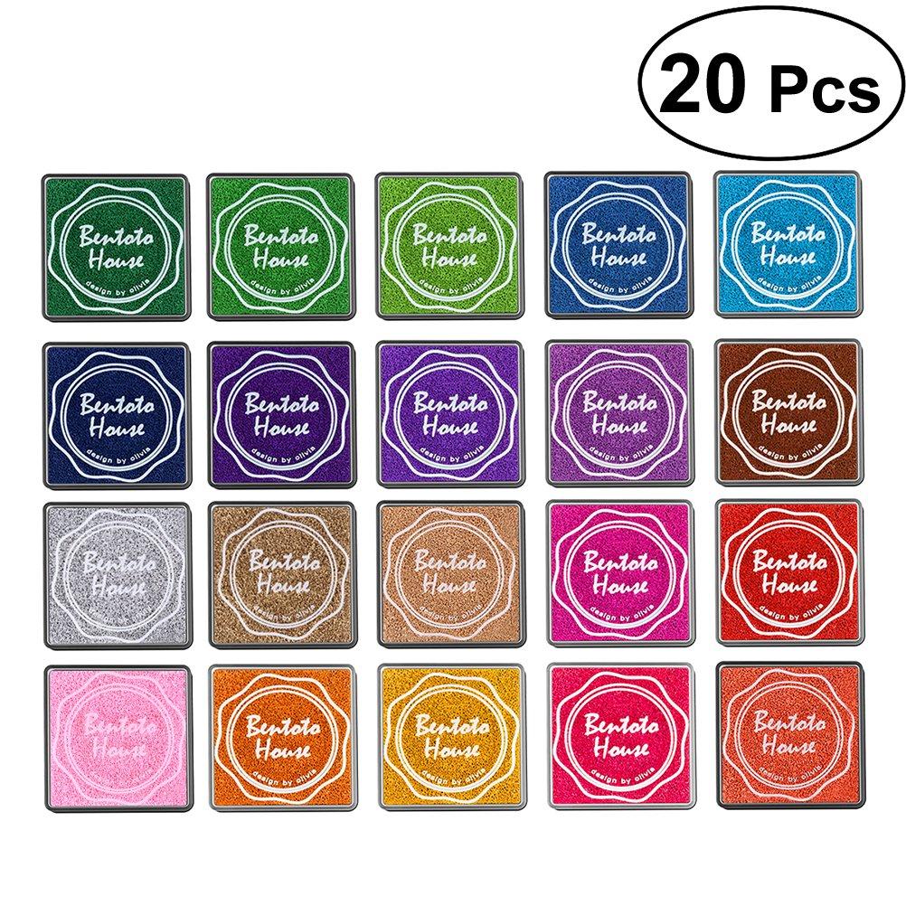 BESTOYARD Tampone di inchiostro colorati 20 pezzi Set di timbri per il fai da te Scrapbooking