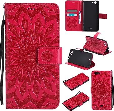SpiritSun Coque Wiko Pulp 4G, Etui pour Wiko Pulp 4G Mode PU Cuir Housse de Protection Pochette Folio Cas Stand Wallet Case à Rabat Magnétique ...