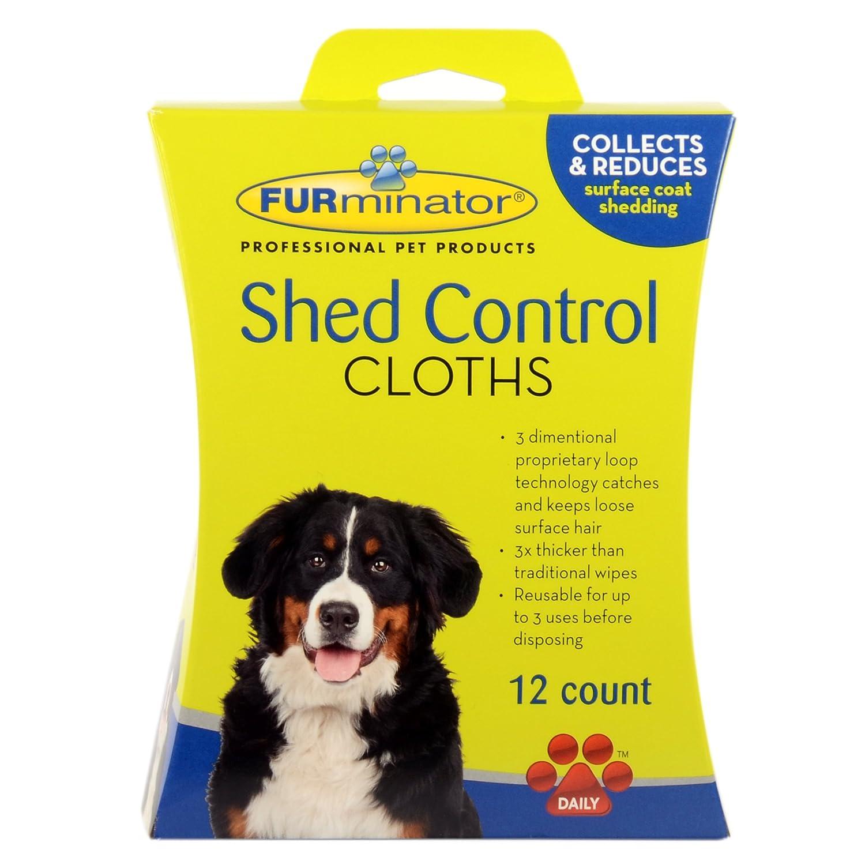 Amazon.com: Furminator perro cobertizo Control paños, 12 ...
