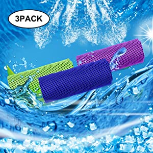 Tagefa Cooling Towel for Instant Cooling Relief, Chilling Neck Wrap, Ice Cold Scarf for Men Women - Evaporative Chilly Towel for Gym, Yoga, Sports, Workout, Fitness, Pilates, Travel, Camping, Golf