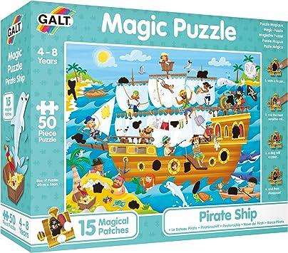 Galt Toys Caribe Puzle Mágico – Barco Pirata (GA1003850): Amazon.es: Juguetes y juegos