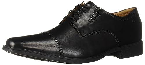 Clarks Men's Tilden Cap Oxford Shoe,Black Leather,9.5 M US best men's dress shoes
