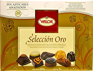 Valor No Sugar Added 7oz Assorted Chocolate Box, Seleccion Oro