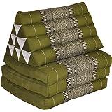 Materasso Thai 3 pieghe, con cuscino triangolo, fabbricato in Tailandia, verde (81803)
