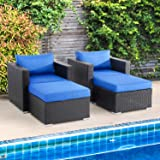 Shintenchi STC-SSFOT005 patio sets, With Arm, Dark Blue