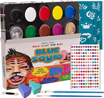 FREE Sponges 5 or 10 Pack Choose from 38 colours SNAZAROO Face Paints
