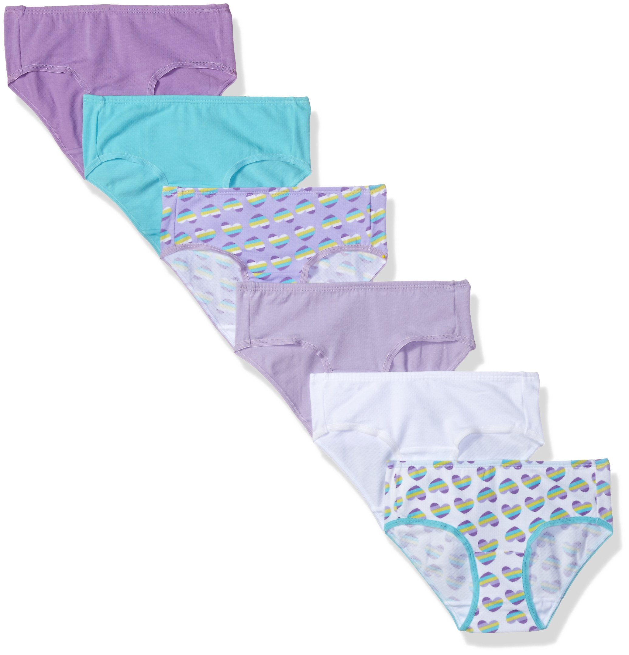 Fruit of the Loom Girls' Breathable Underwear,Assorted, Multipack