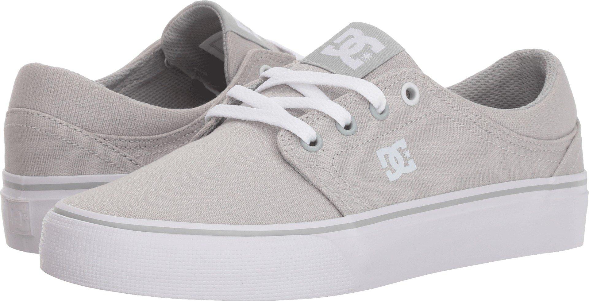 DC Women's Trase TX Skate Shoe, Grey Ash, 8 B B US