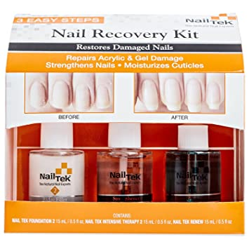 Nail Tek New Restore Damaged Nails Kit Intensive Therapy II 05 Fl Oz Foundation