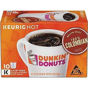 Dunkin' Donuts Medium Roast 100% Colombian Coffee, 60 K Cups for Keurig Coffee Makers