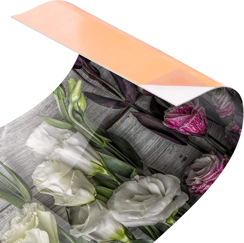 Bilderwelten Kuchenruckwand Panorama Folie Tulpen Rose Shabby Holzoptik Smart 40 X 140 Cm Elektro Grossgerate Spritzschutz