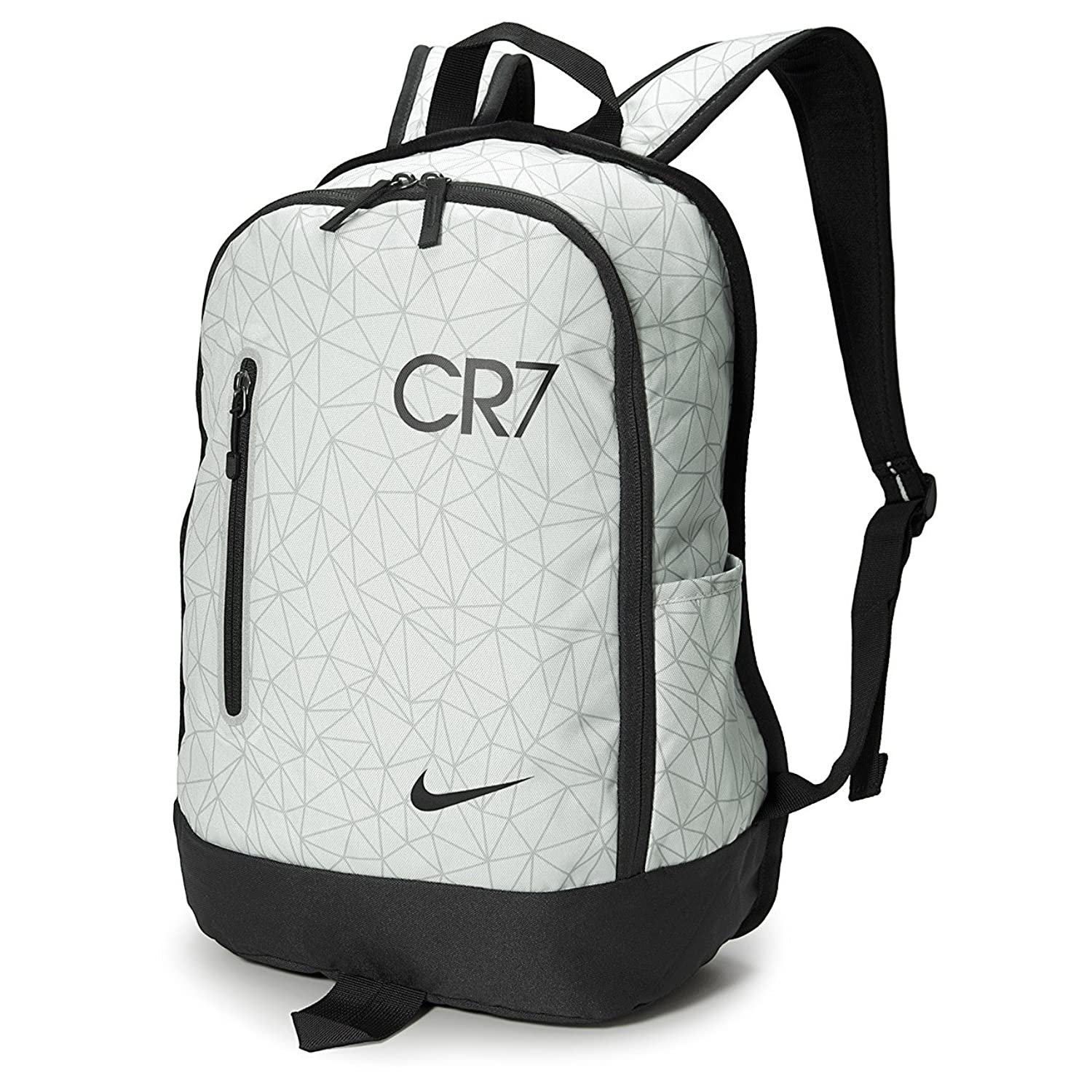 f6d2dd76fbeb ... Amazon.com Nike Youth CR7 Football Backpack PURE PLATINUMBLACKBLACK  (MISC) Sports Outdoors new ...