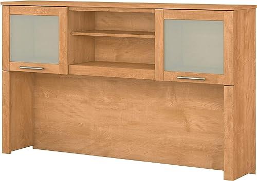 Bush Furniture WC81431 Desk Hutch, 60W, Maple Cross