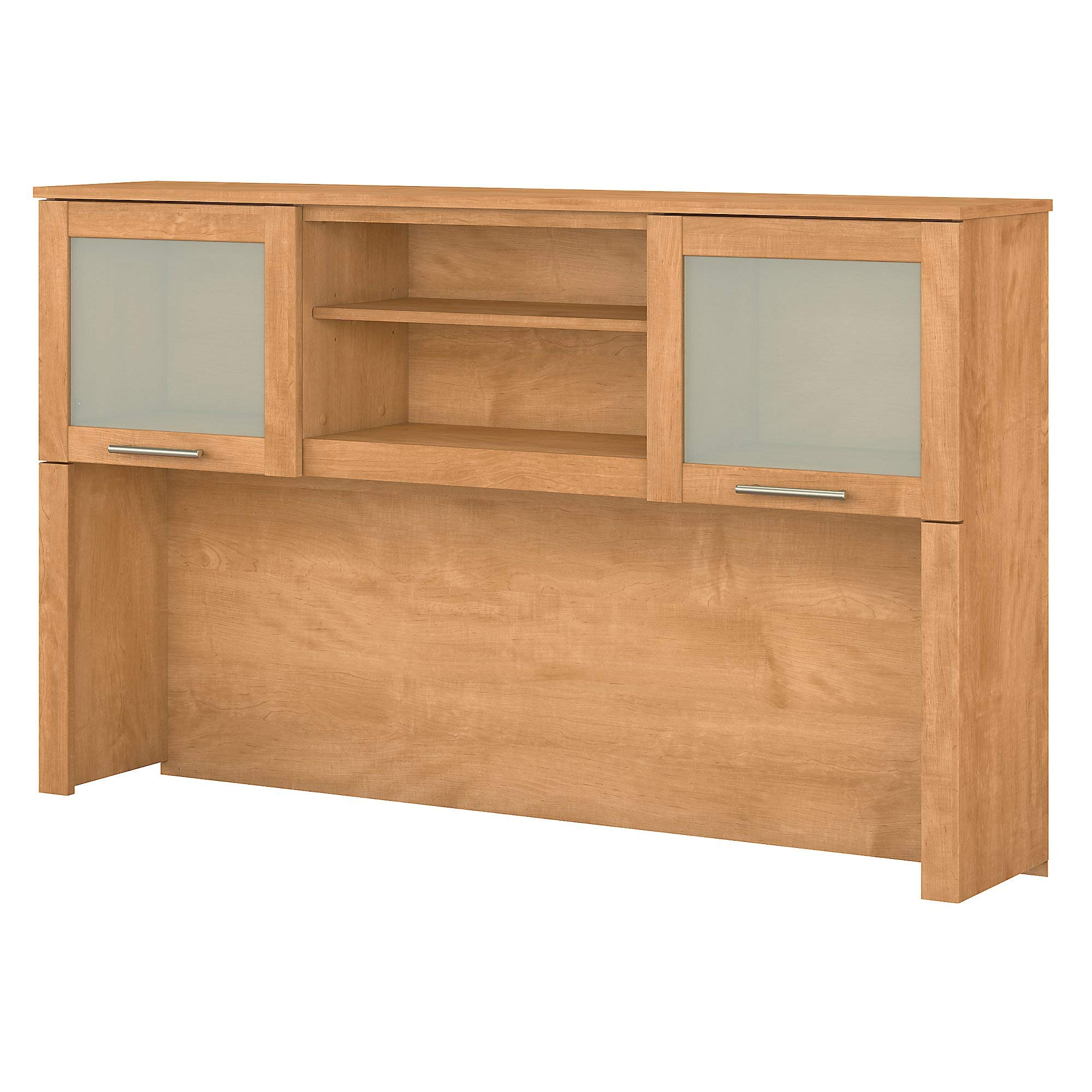 Bush Furniture Somerset 60W Hutch for L Shaped Desk in Maple Cross by Bush Furniture
