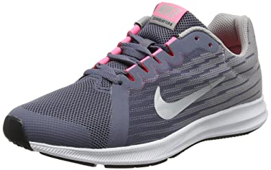 promo code 2c3d3 95ad7 Nike Downshifter 8 (GS), Chaussures de Running Fille, Multicolore (Light  Carbon