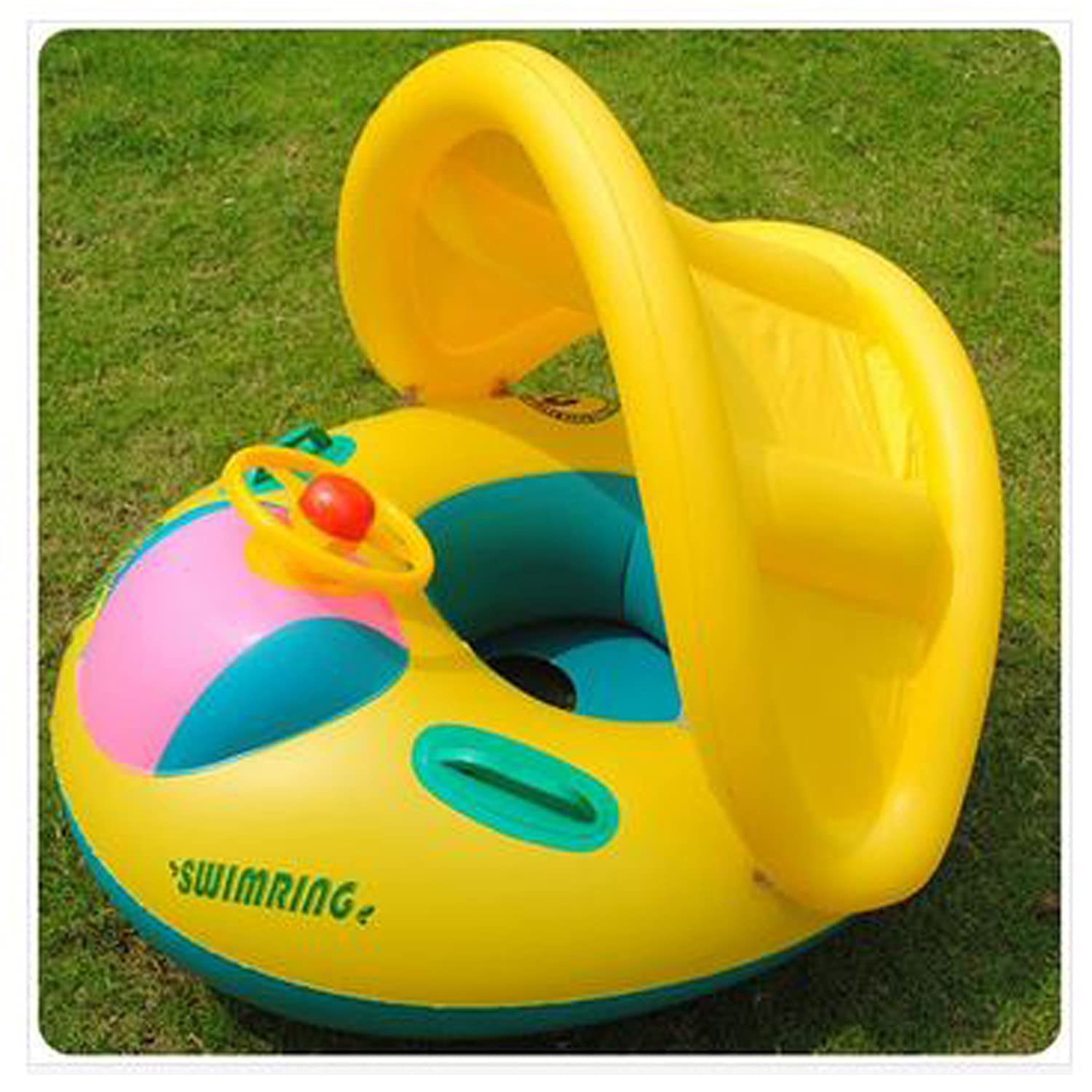 Amazon.com Baby seat Inflatable Toddler Baby Swim Ring Float Seat Swimming Pool Water Seat with Anti-UV Canopy BS 03 Toys u0026 Games & Amazon.com: Baby seat Inflatable Toddler Baby Swim Ring Float Seat ...