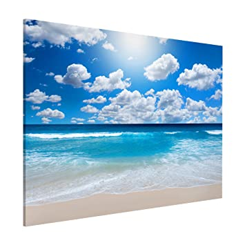 Magnettafel - Touch of paradise - Memoboard Quer 30x40cm Metall ...