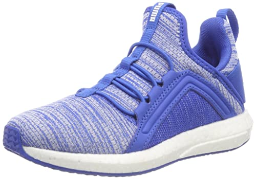 ff270952cfb Puma Unisex s Mega NRGY Heather Knit AC PS Strong Blue White Sneakers-11 UK