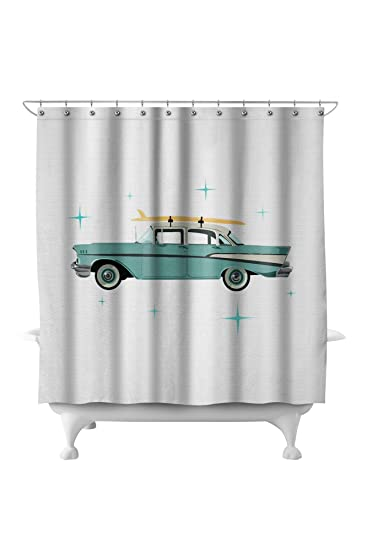 Retro Chevy 71x74 Polyester Shower Curtain