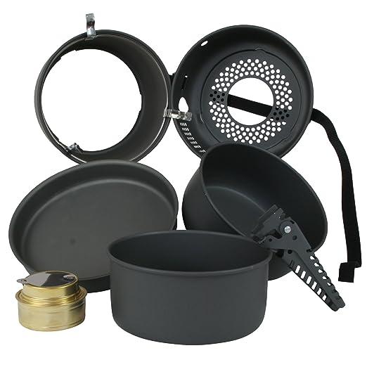 10T Outdoor Equipment 10T Scout Juego de ollas y sartenes para camping, Gris, Estándar: Amazon.es: Deportes y aire libre