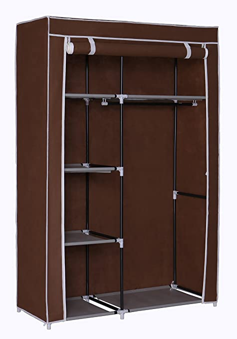 Homebi Portable Wardrobe Clothes Closet Organizer Non Woven Fabric Storage  Rack Unit With Six Shelves