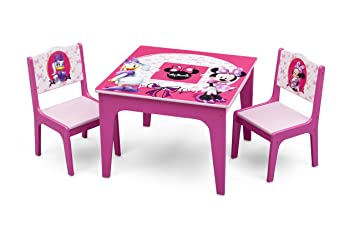 Stupendous Delta Children Deluxe Kids Chair Set With Table 2 Chairs Included Disney Minnie Mouse Evergreenethics Interior Chair Design Evergreenethicsorg