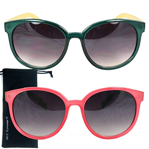 68a957c0398 Amazon.com  MLC Eyewear Vintage Stylish Sunglasses Bargain Deal of 2 ...