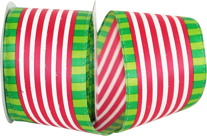 Multi 2-1//2 Inch X 10 Yards Reliant Ribbon 93033W-001-40F Halloween Glitter Dot Wired Edge Ribbon